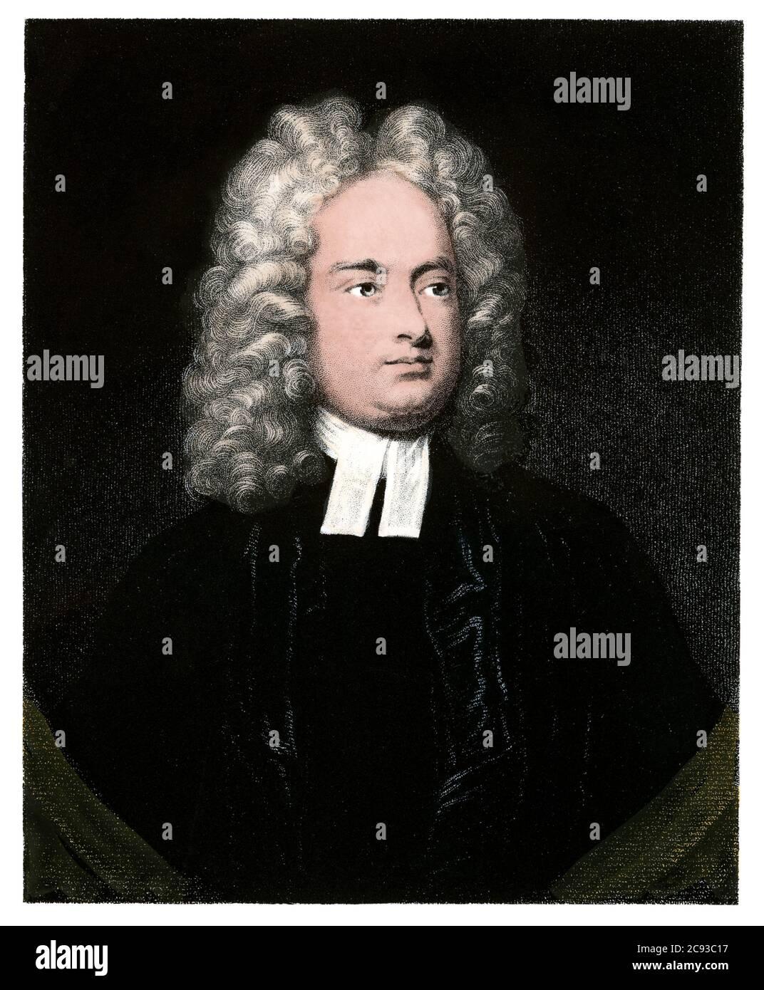 Jonathan Swift. Hand-colored engraving Stock Photo