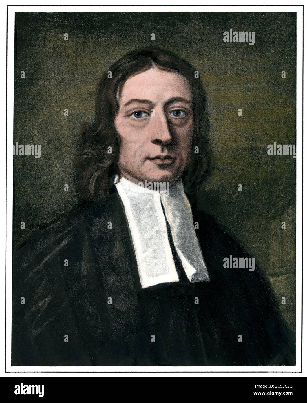 John Wesley, circa 1741. Hand-colored haftone of a painting by J. Williams Stock Photo