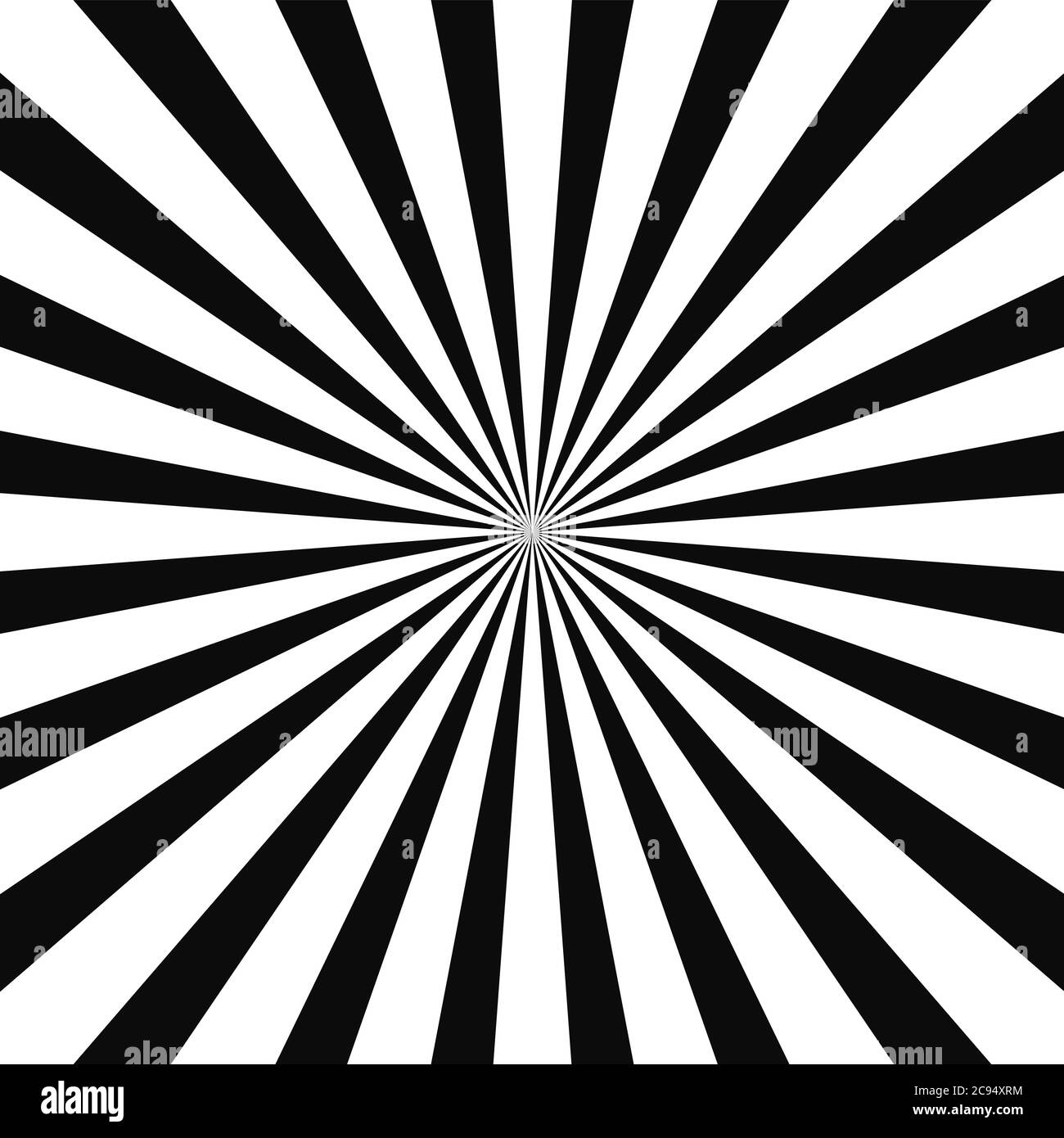 Abstract optical illusion background vector design. Psychedelic striped black and white backdrop. Hypnotic pattern.White and black beam style background. Vector Stock Vector