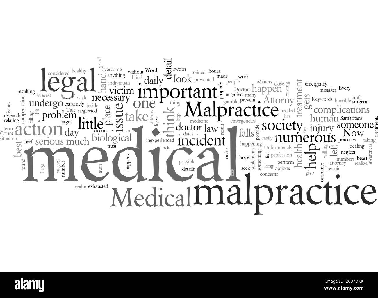 Word Cloud Summary of swimmers ear Article Stock Photo