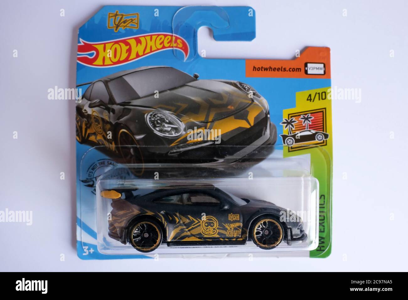 Istanbul Turkey July 29 2020 A Hot Wheels Black Colored Porsche 911 Gt3 Rs Die Cast Toy Car On Is White Background Stock Photo Alamy