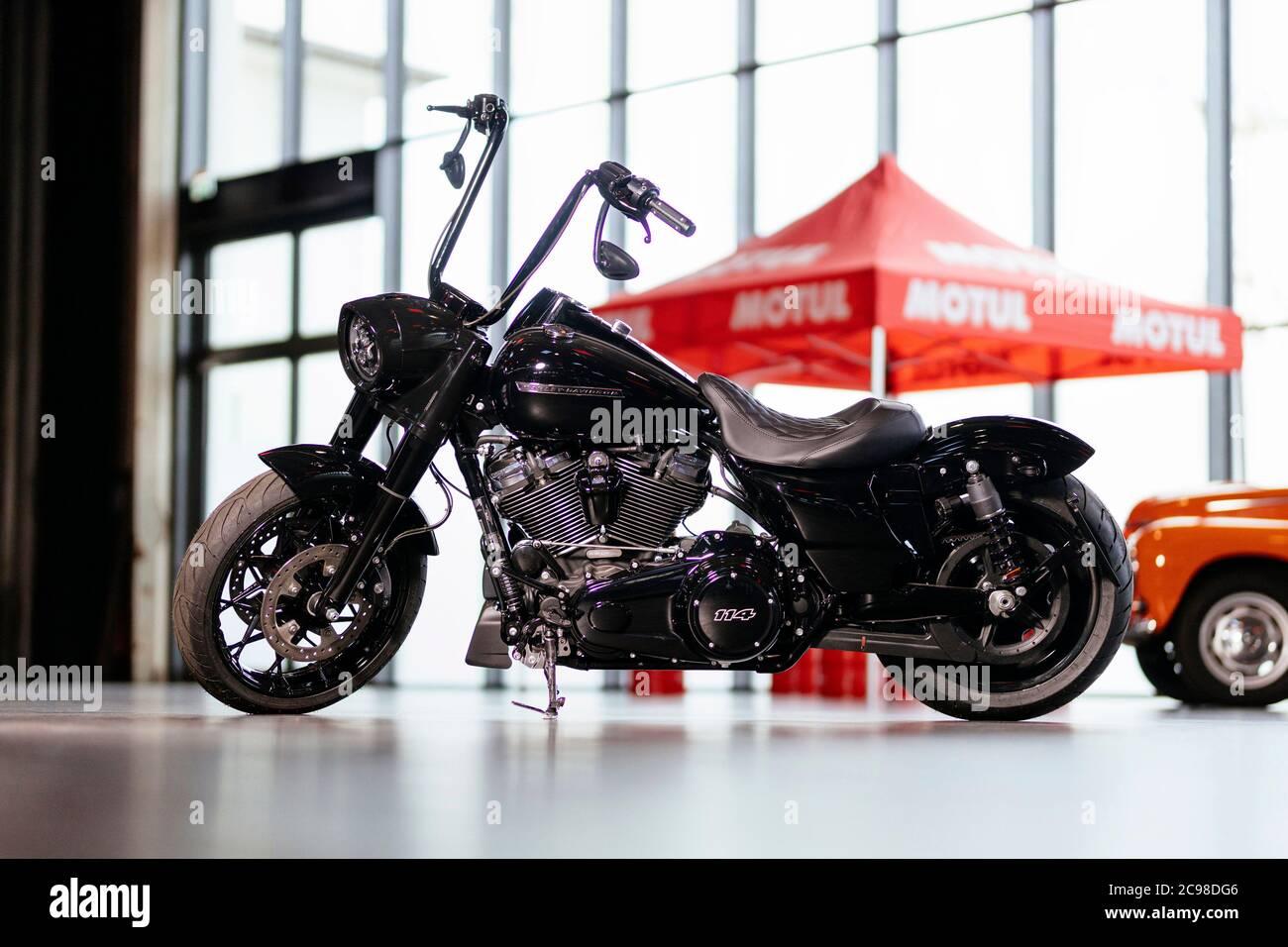 A Harley Davidson Road King Special Bobber Conversion In The Motorworld Koln Rhineland Cologne 07 27 2020 Usage Worldwide Stock Photo Alamy
