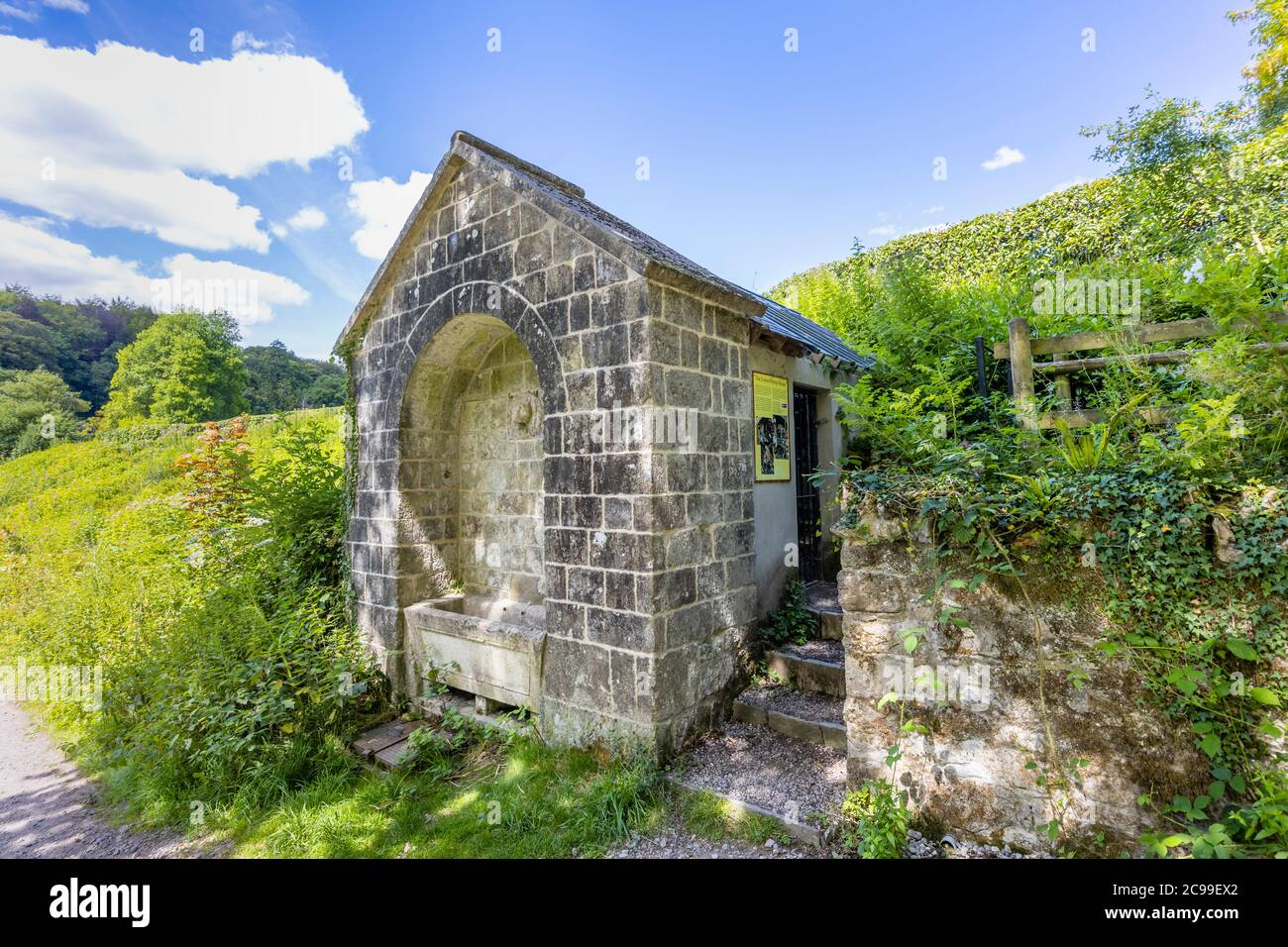 The restored Lower Pump House in Stourton, a small village near Stourhead, Somerset, south-west England Stock Photo