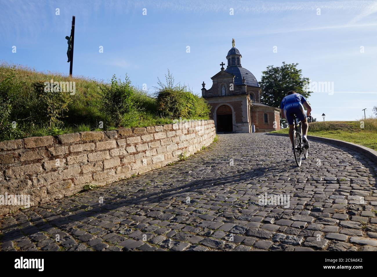 The Chapell of Our Lady of Oudenberg, on top of the Muur climb in Geraardsbergen, Belgium Stock Photo