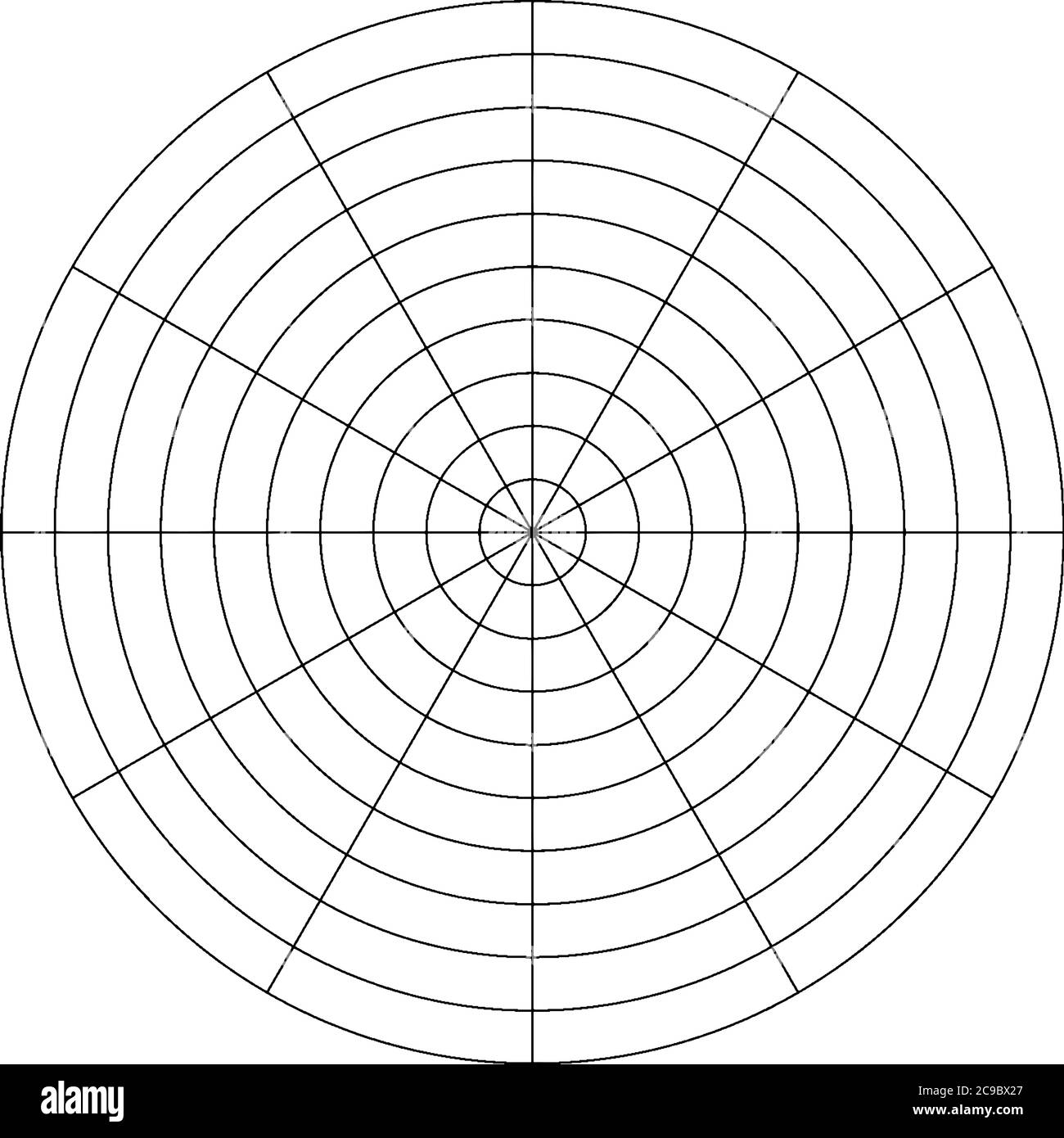 Divided Circle Black And White Stock Photos Images Alamy
