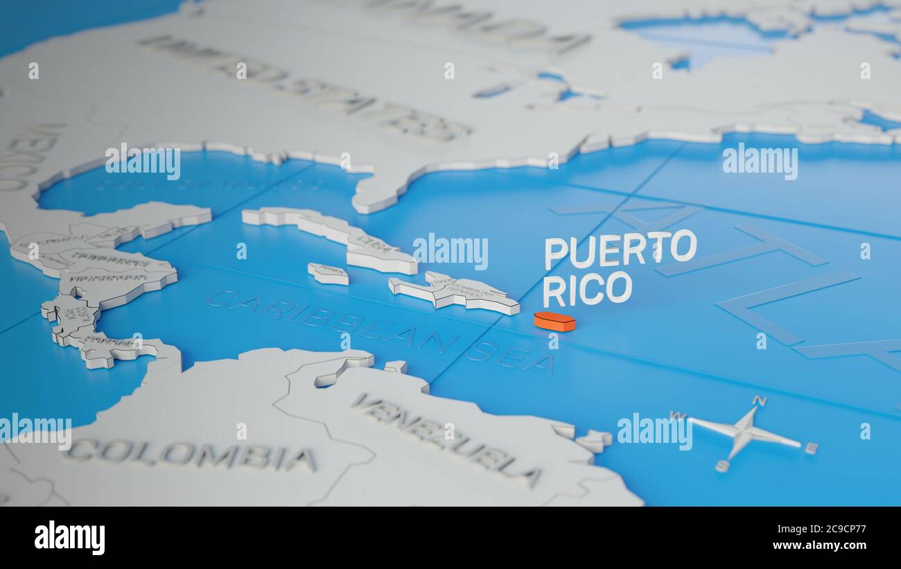 Picture of: Puerto Rico Map High Resolution Stock Photography And Images Alamy