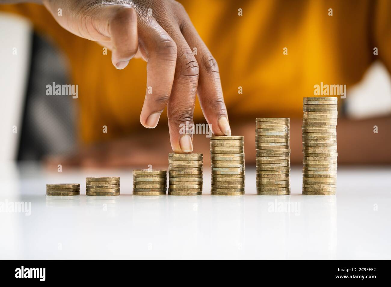 African American Loan Savings And Rich Business Investor Stock Photo