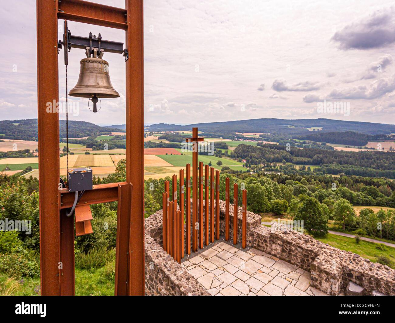 Reconstructed bell-tower on the chapel of Waldeck-Castle in Kemnath-Waldeck, Germany Stock Photo