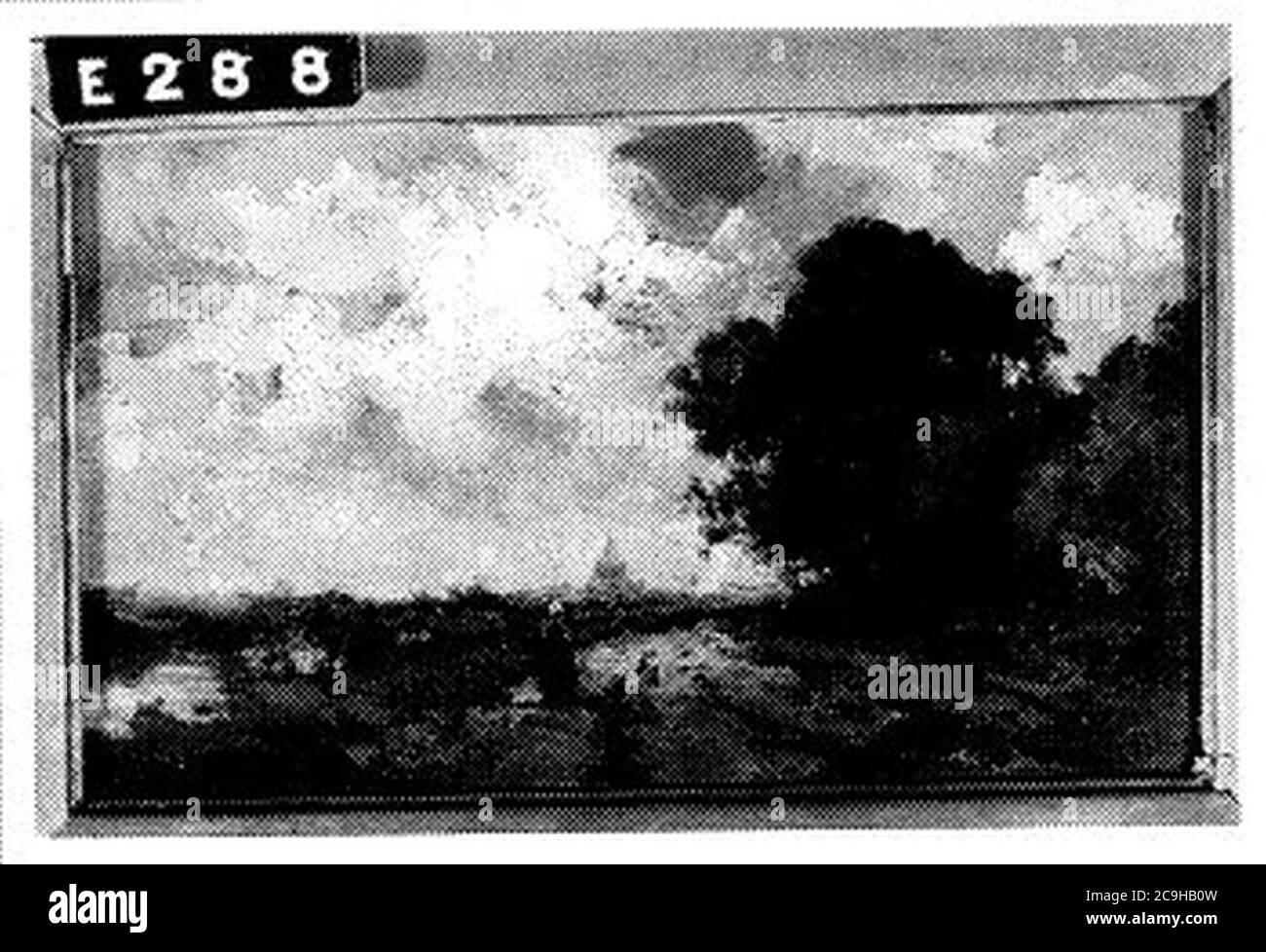 J. van der (1864-01-03) Linde - Landschap met landweg sloot en donkere lucht - E288 - Instituut Collectie Nederland. Stock Photo