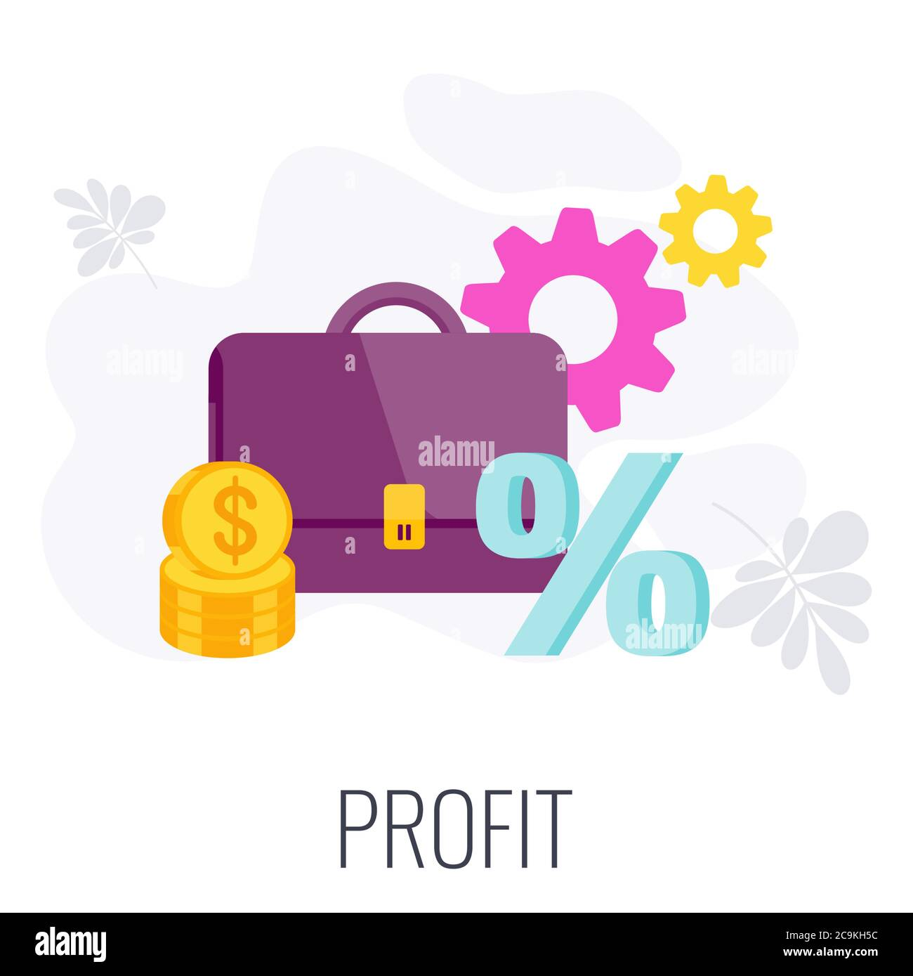 Profit Icon. Strategy, management and marketing Infographics. Stock Vector