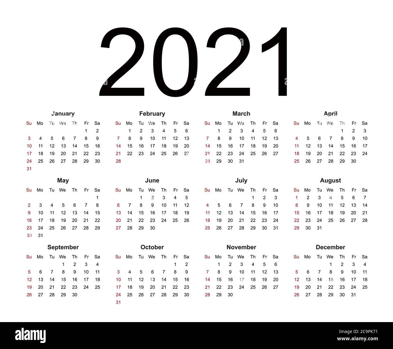 Calendar 20. Week starts from Sunday, business template ...