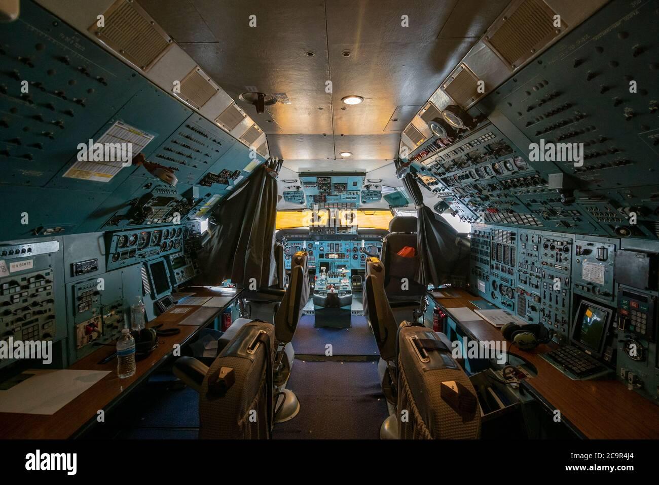 The cockpit of an antonov 225 Stock Photo