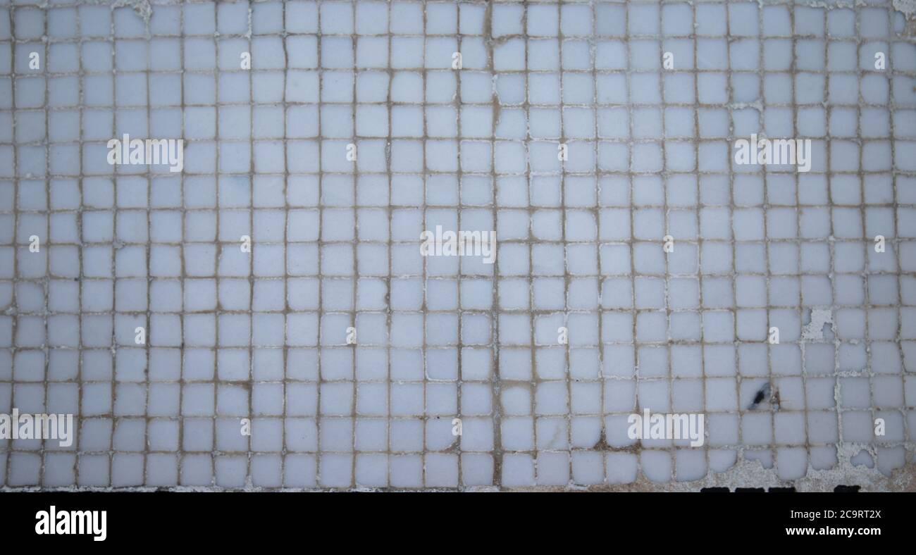 artistic ceramic mosaic in grayscale Stock Photo