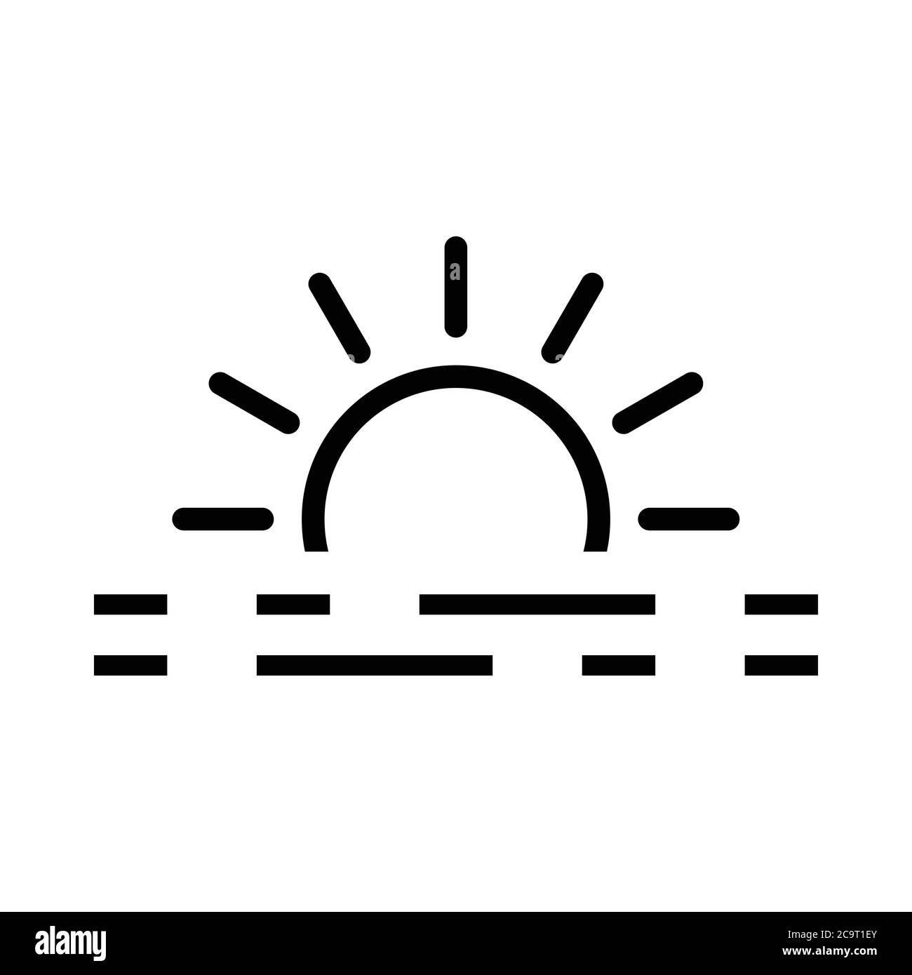 sunset icon vector stock vector image art alamy alamy