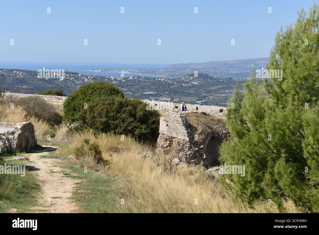 Castle of Saint George, Kastro, Cephalonia, Greece Stock Photo