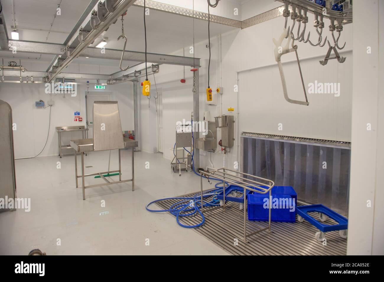 butchery processing room Stock Photo