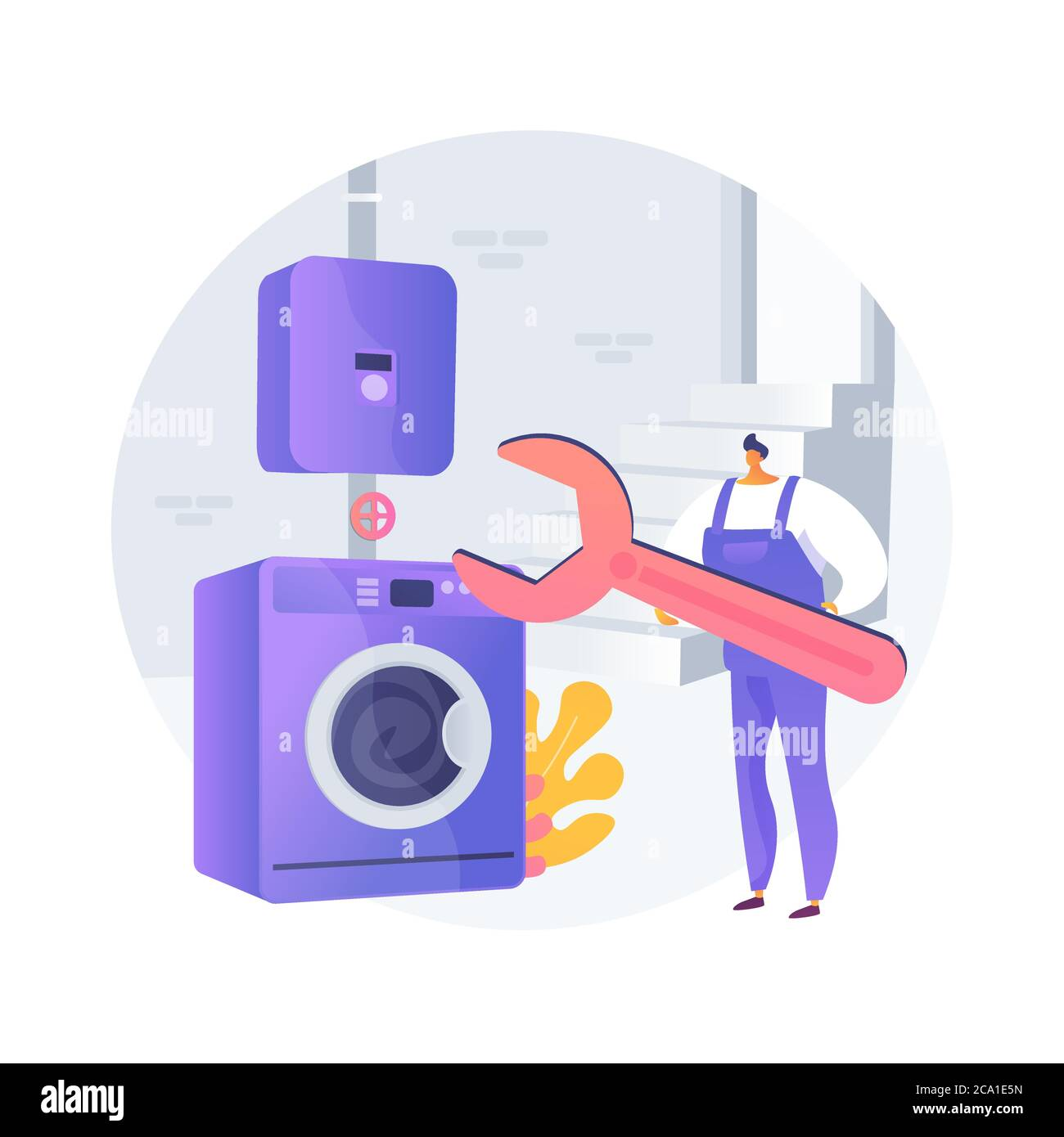 Basement services abstract concept vector illustration. Stock Vector
