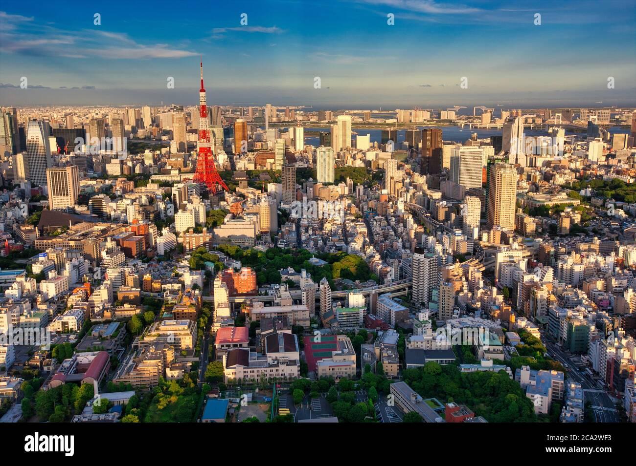 Tokyo City View, Roppongi Hills Mori Tower, Tokyo, Japan Stock Photo