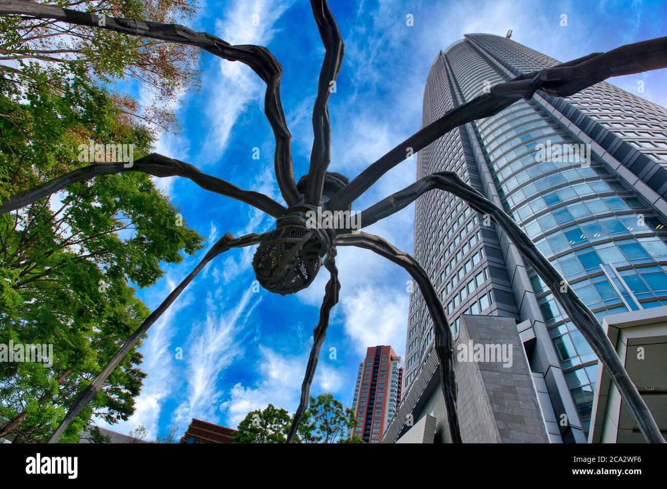 Roppongi Hills Mori Tower, Spider of Louise Bourgeois, Tokyo, Japan Stock Photo