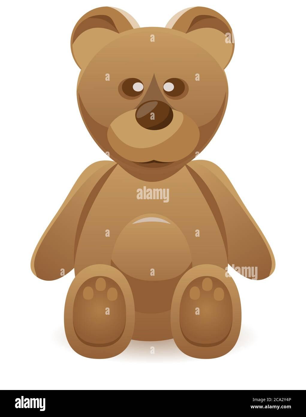 Teddy bear and the barrel of honey Cartoon Vector Image
