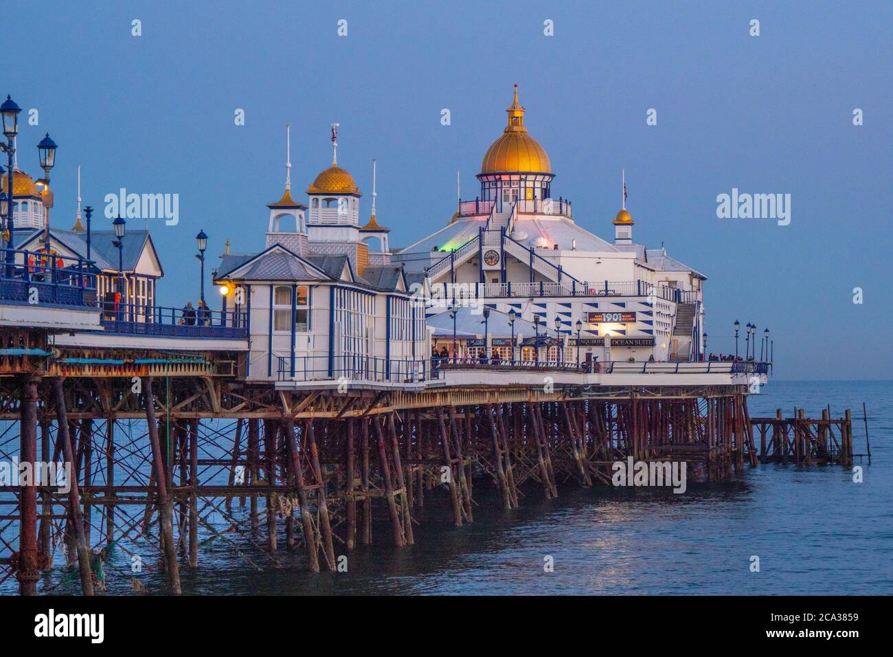 Eastbourne Pier at the South Coast of England - travel photography. Stock Photo