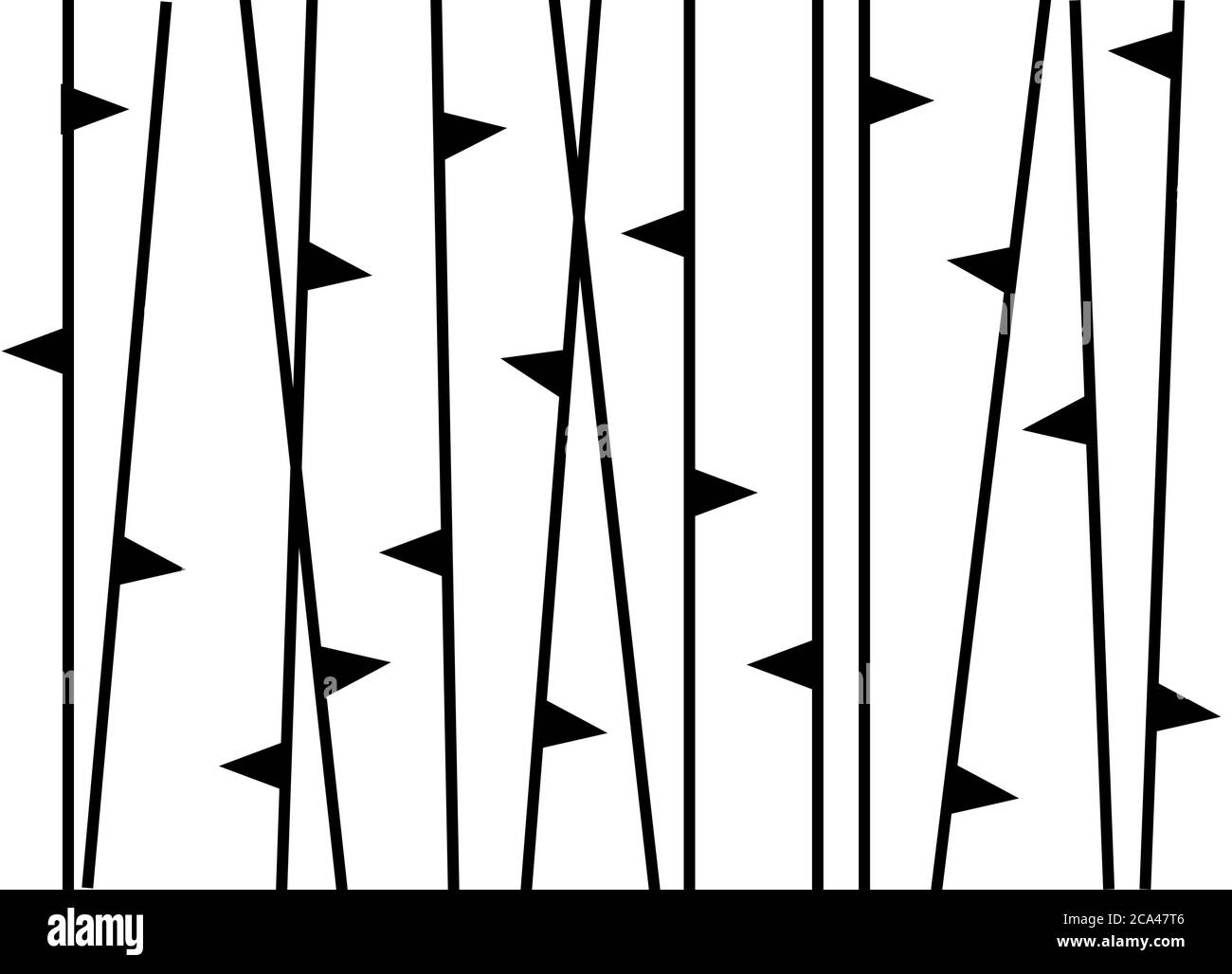 Black And White Abstract Minimalist Trees Illustration Minimalist Fabric Design Stock Photo Alamy