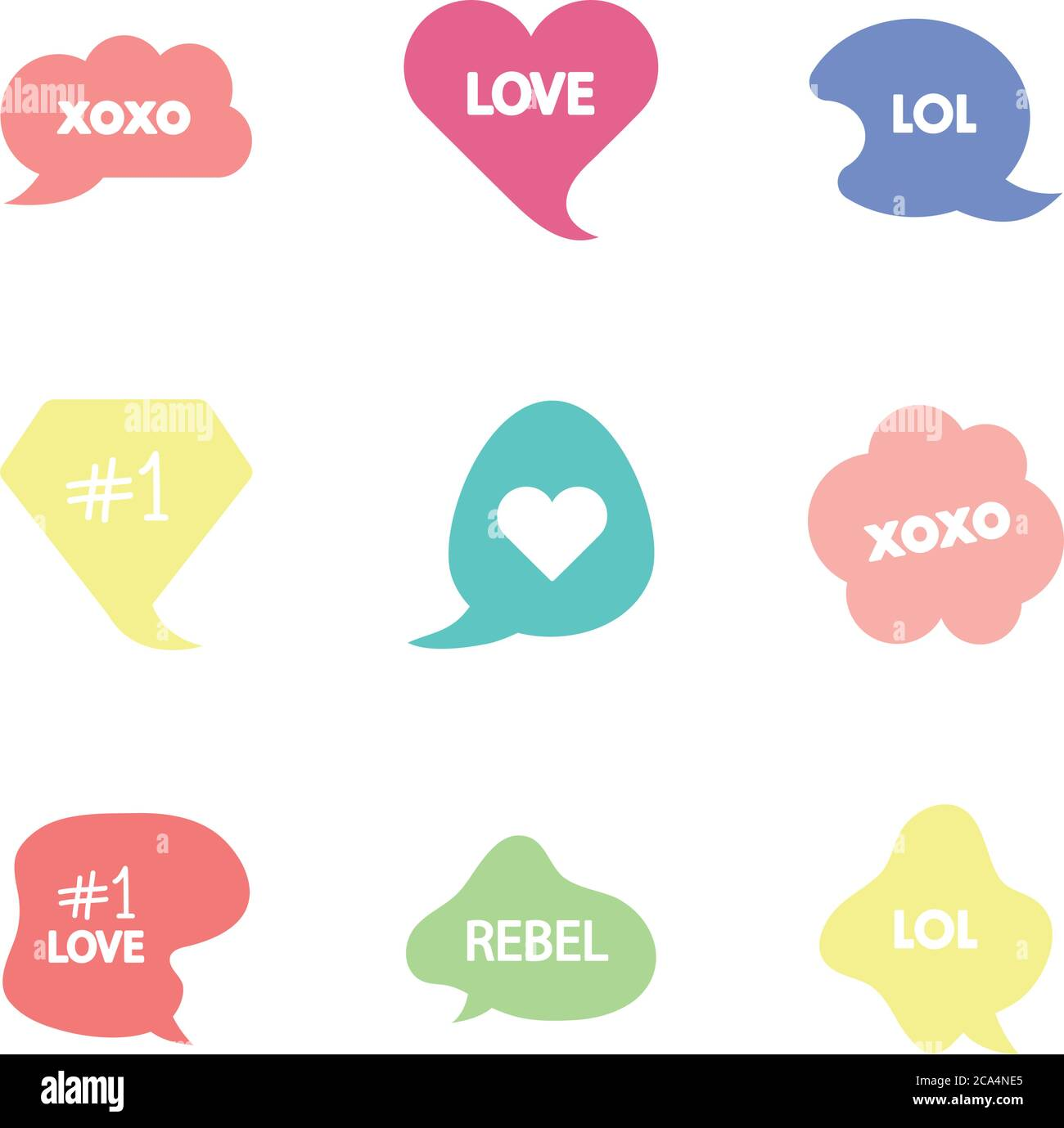 lol icon high resolution stock photography and images alamy https www alamy com colorful slang bubbles icon set over white background line fill style vector illustration image367668957 html