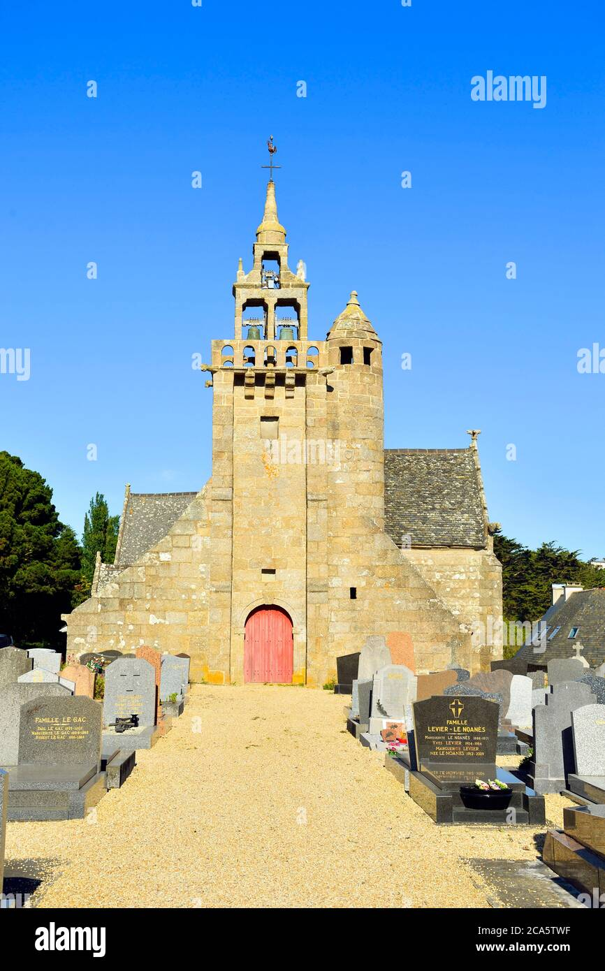 France, Cotes d'Armor, Locquemeau, Locquemeau Parish close Stock Photo