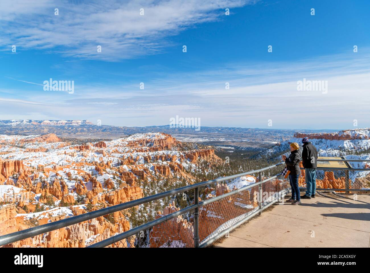 View from Sunset Point scenic lookout, Bryce Amphitheater, Bryce Canyon National Park, Utah, USA Stock Photo