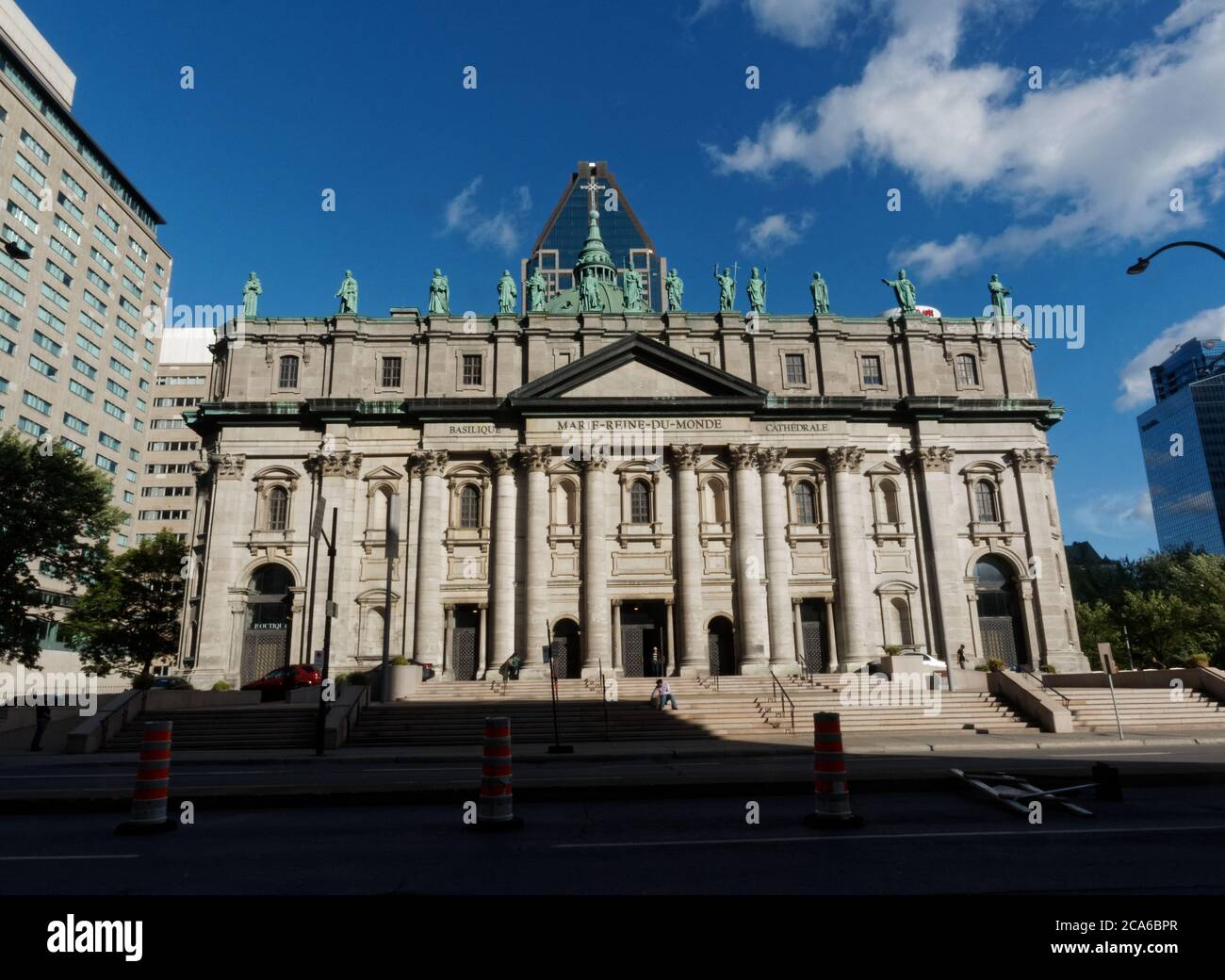 Mary, Queen of the World Cathedral in downtown Montreal Stock Photo