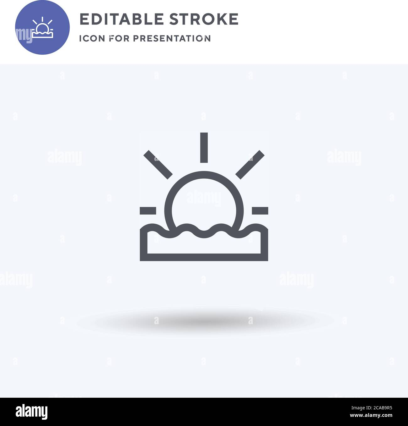 sunset icon vector filled flat sign solid pictogram isolated on white logo illustration sunset icon for presentation stock vector image art alamy alamy