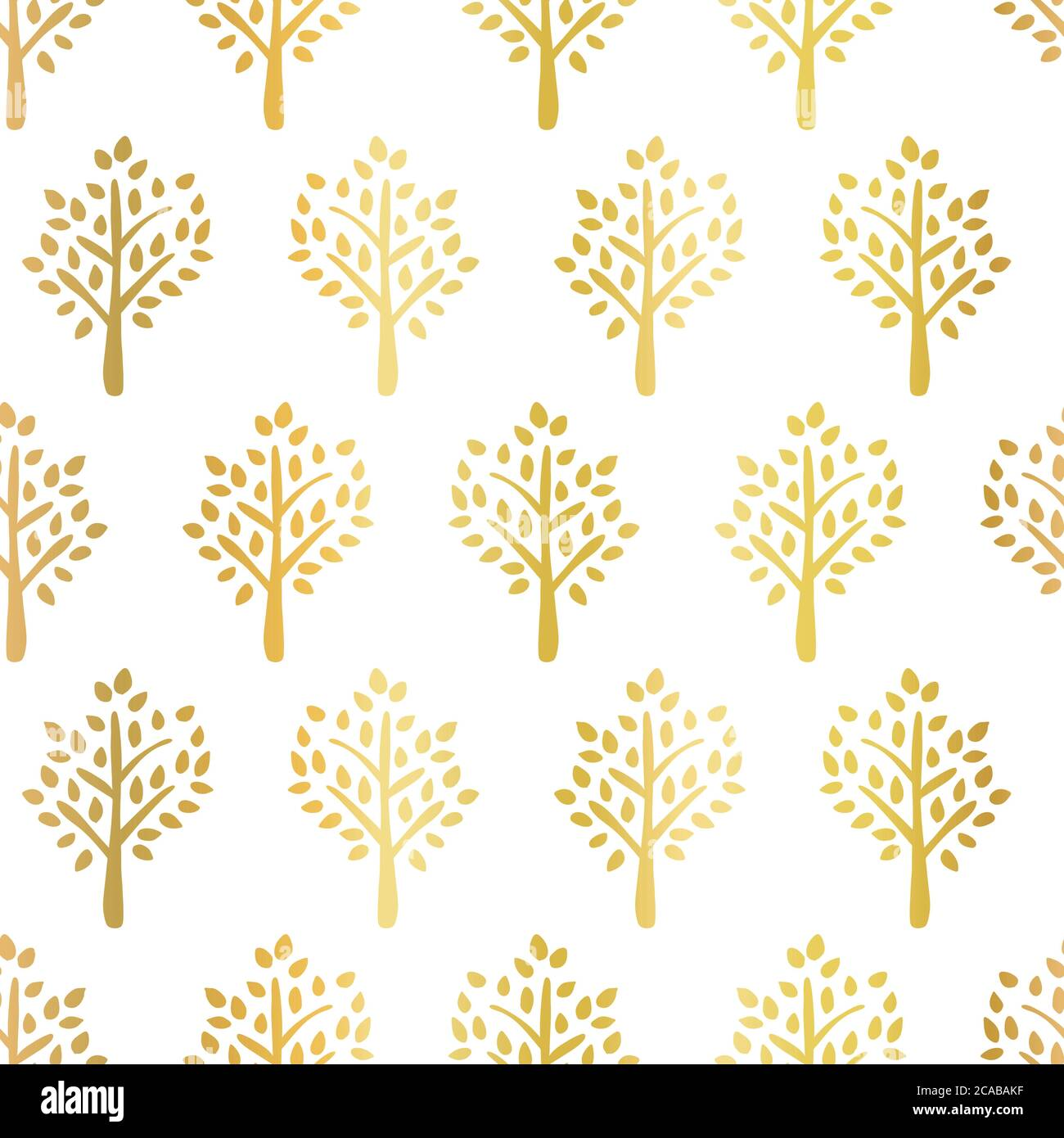 Gold Foil Trees Seamless Vector Pattern Tree Silhouettes Faux Golden Metallic On White Fall Background Use For Fabric Autumn Decor Thanksgiving Stock Vector Image Art Alamy