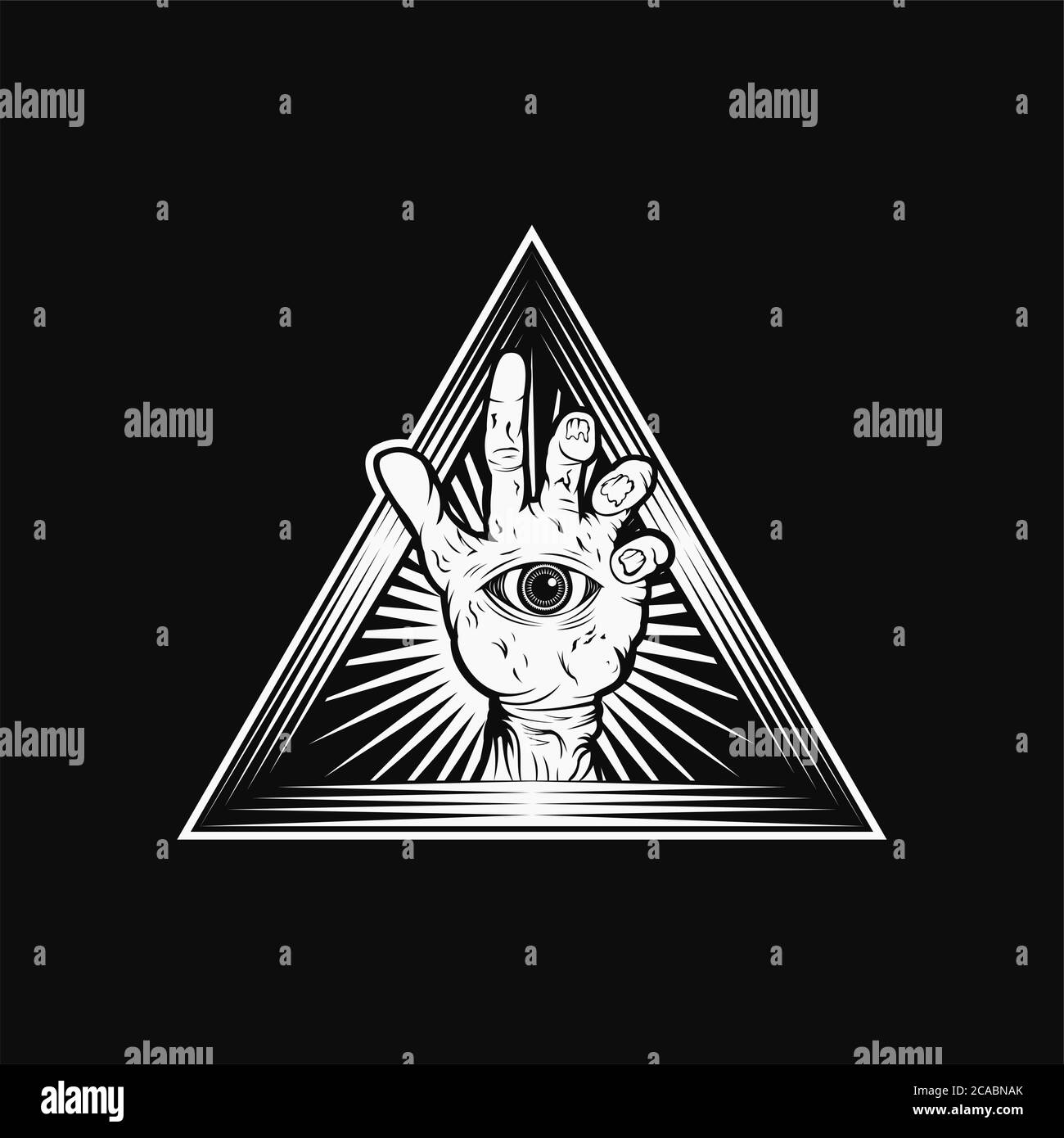 Zombie Hand Triangle vector illustration amazing design for your company or brand Stock Vector