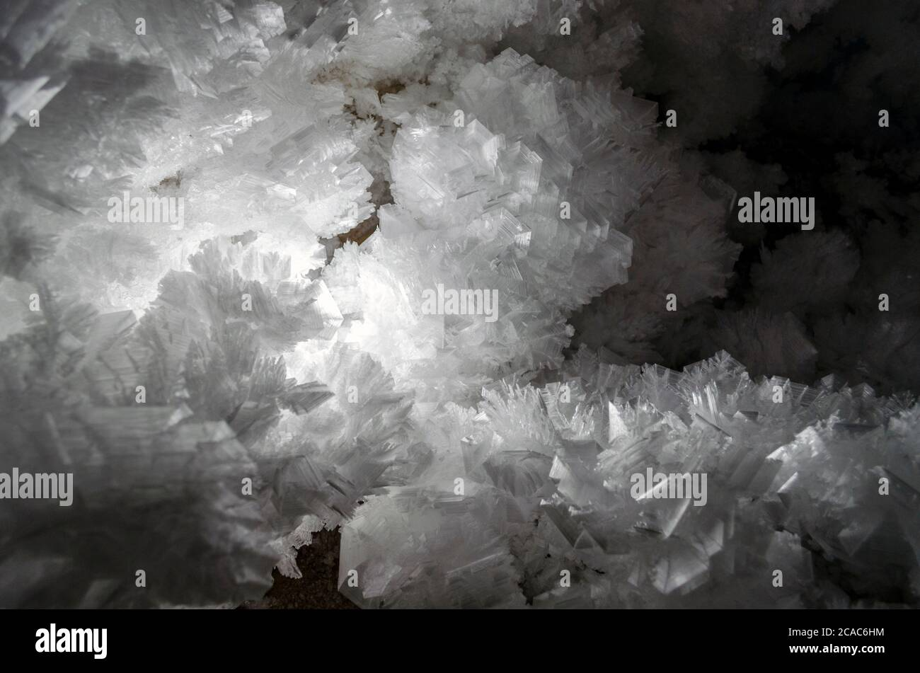 Snowflakes, pieces of ice, drizzle, snowy, frozen crystals of water Stock Photo