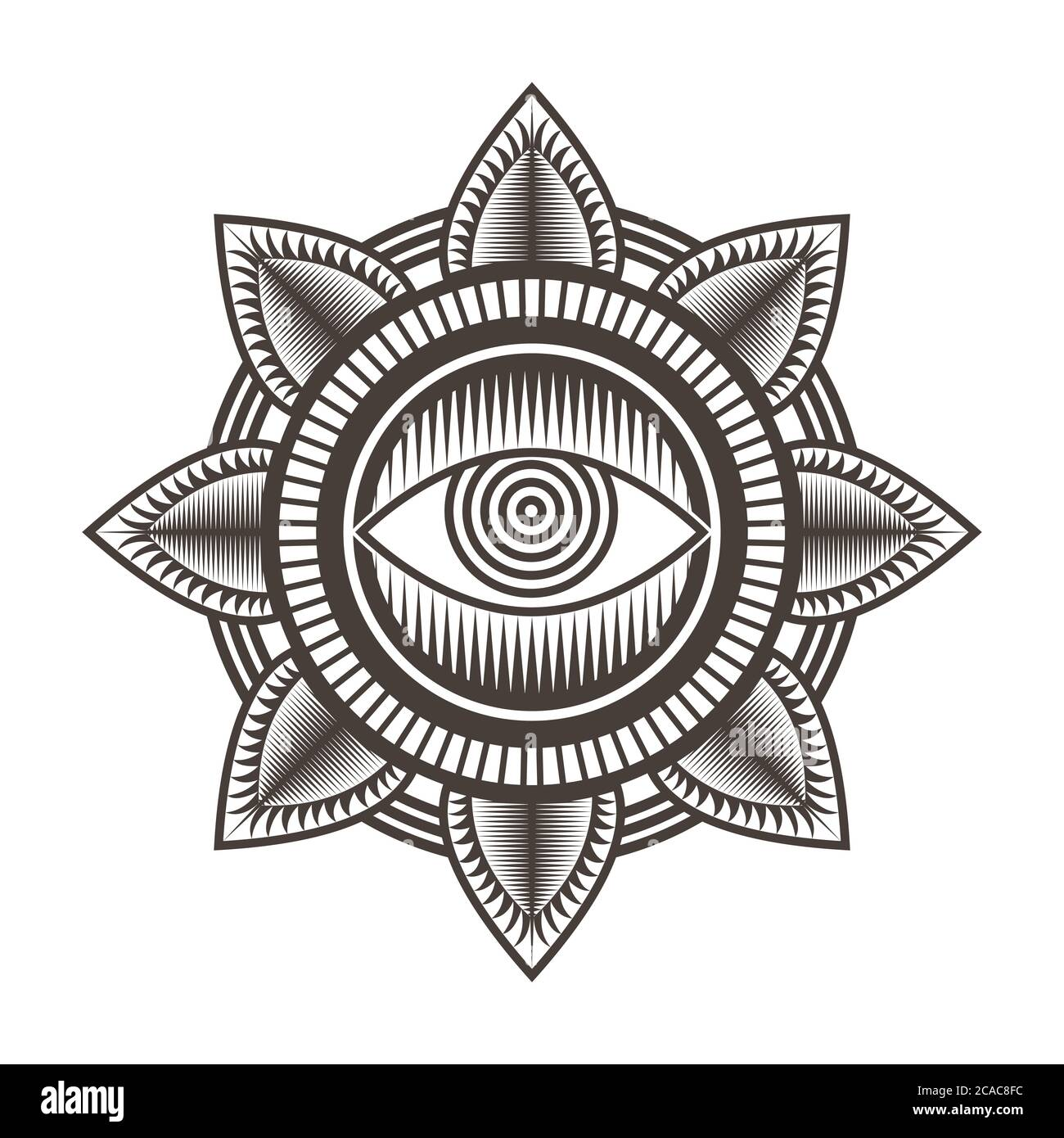 one eye mandala design vector illustration amazing design for your company or brand Stock Vector