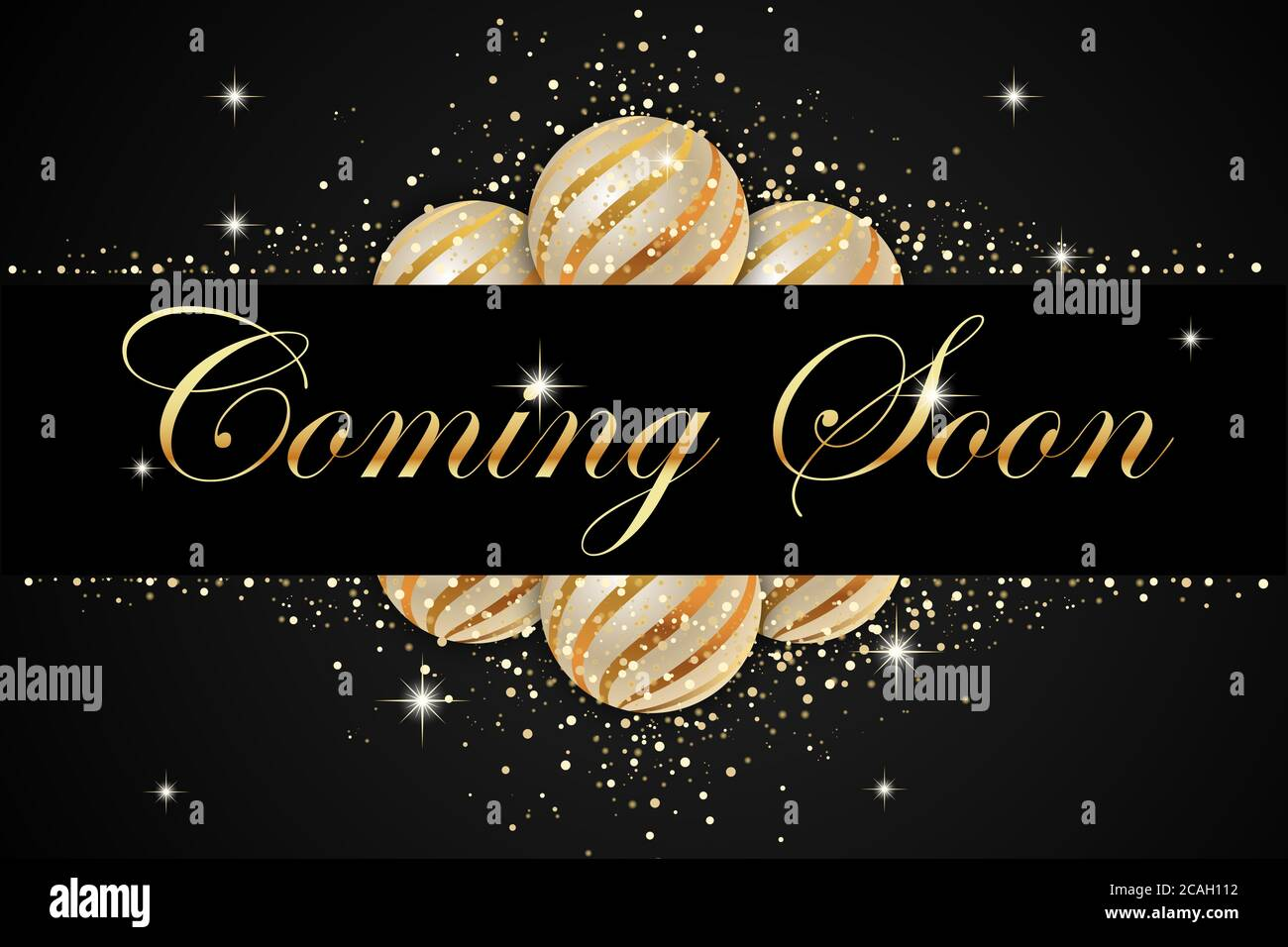 Coming Soon In Christmas Background Stock Photo Alamy