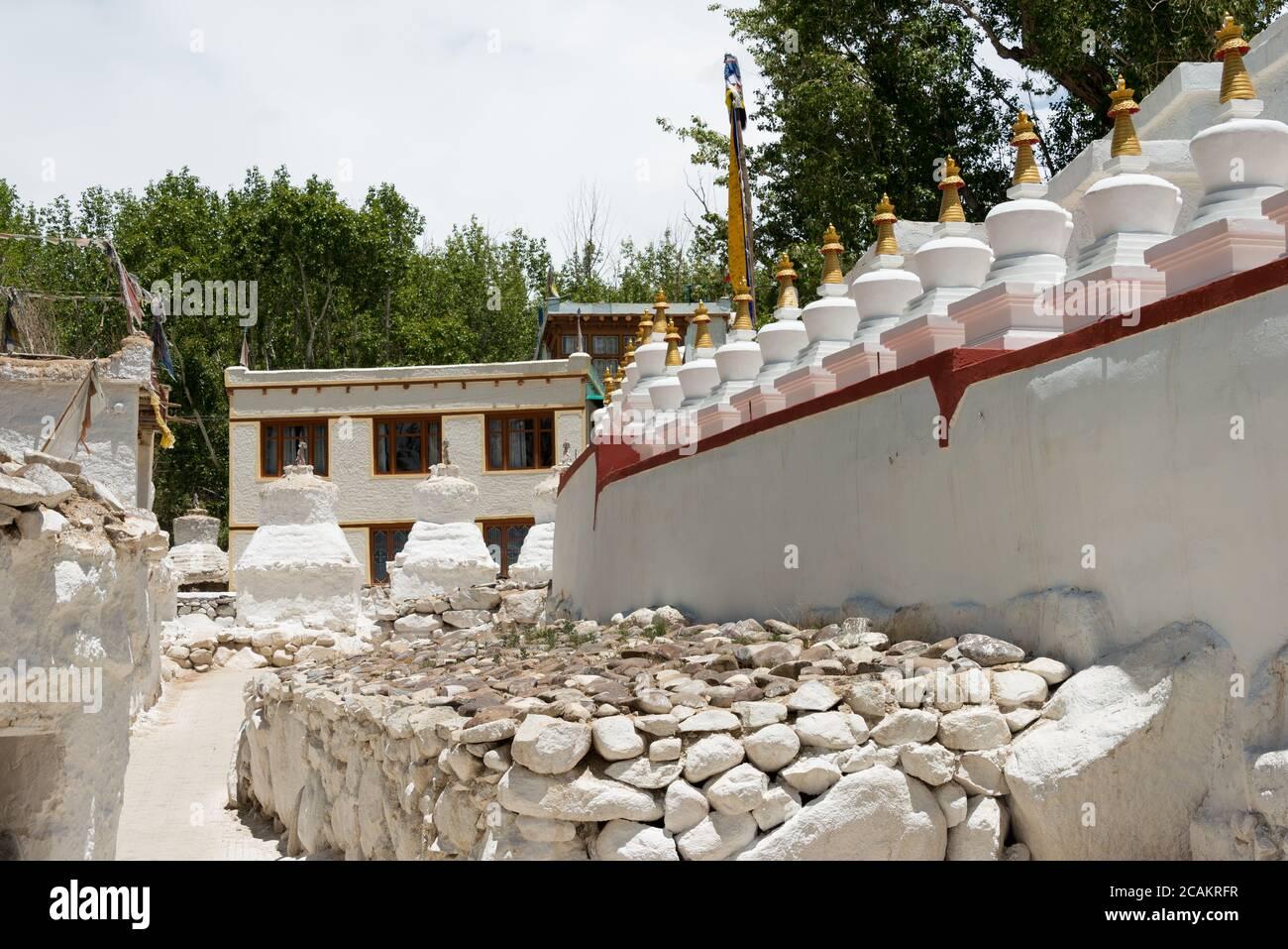 Ladakh, India - Gomang Stupa in Leh, Ladakh, Jammu and Kashmir, India. Stock Photo