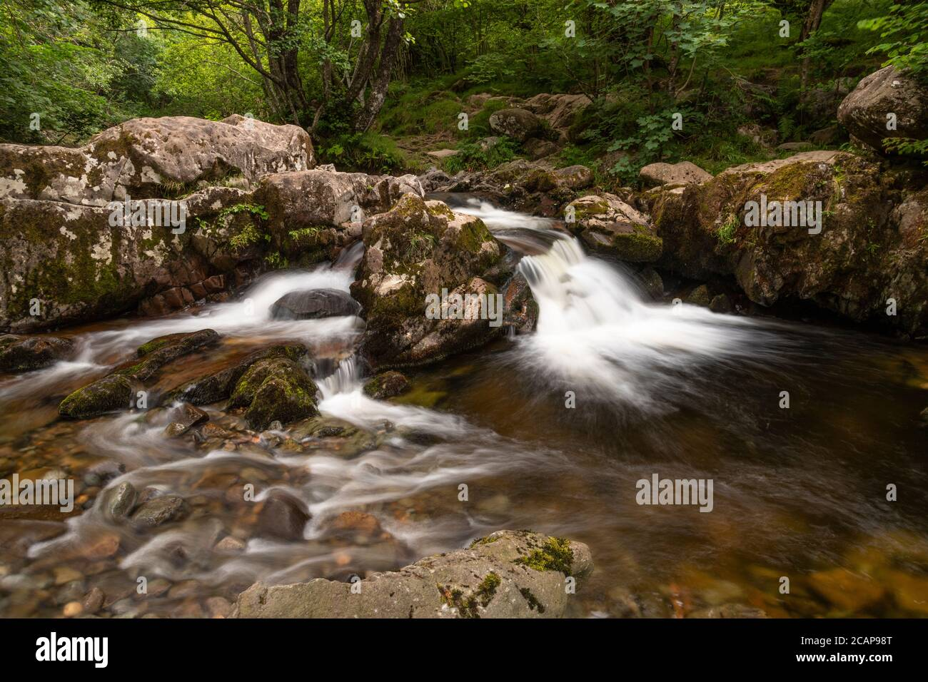 Aira Force waterfall near Ullswater in the Lake District, England Stock Photo