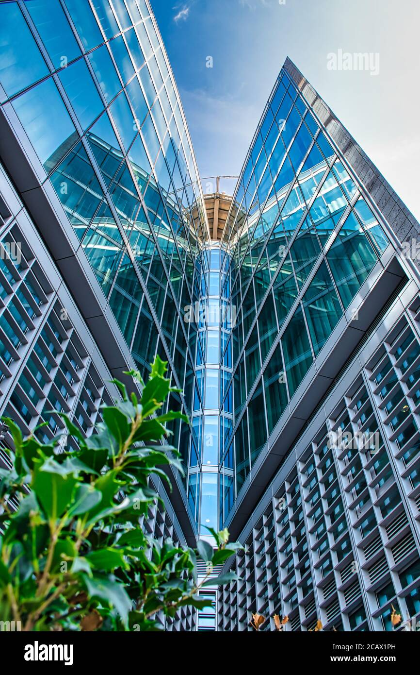 Milan, Italy 08.08.2020: Futuristic, modern Palazzo Lombardia, Lombardy Palace is the main seat of the government of Lombardy, located in the Directio Stock Photo
