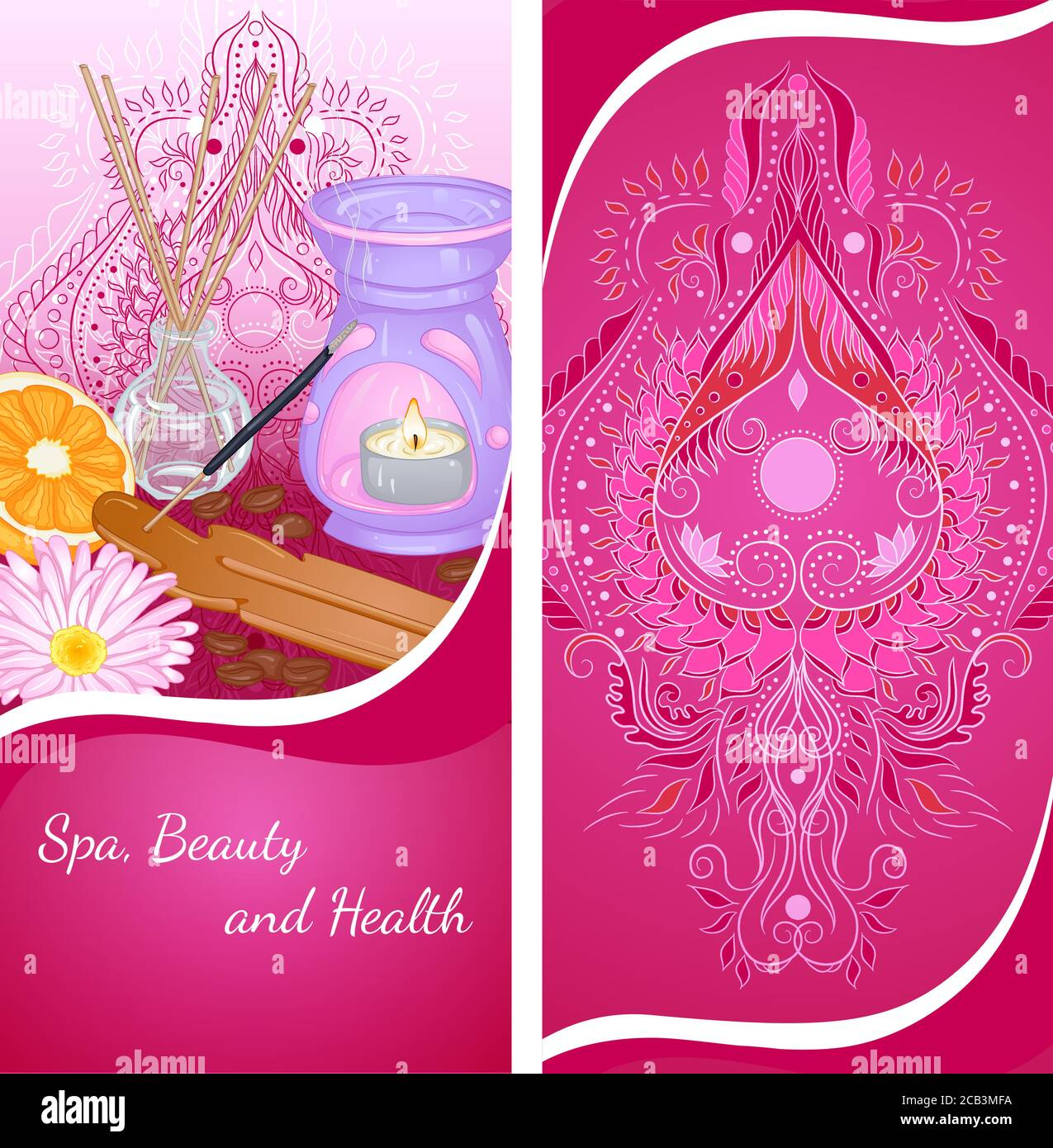 Vector Illustration Of A Vertical Banner Template With Accessories For Spa And Aromatherapy Design For A Spa Massage And Beauty Salon Relax Aromatherapy Stock Vector Image Art Alamy
