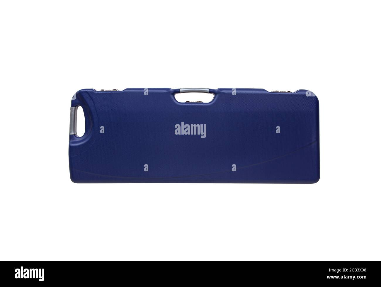 Modern hard plastic case with a combination lock for storing and transporting weapons. Luxury rifle case. Stock Photo
