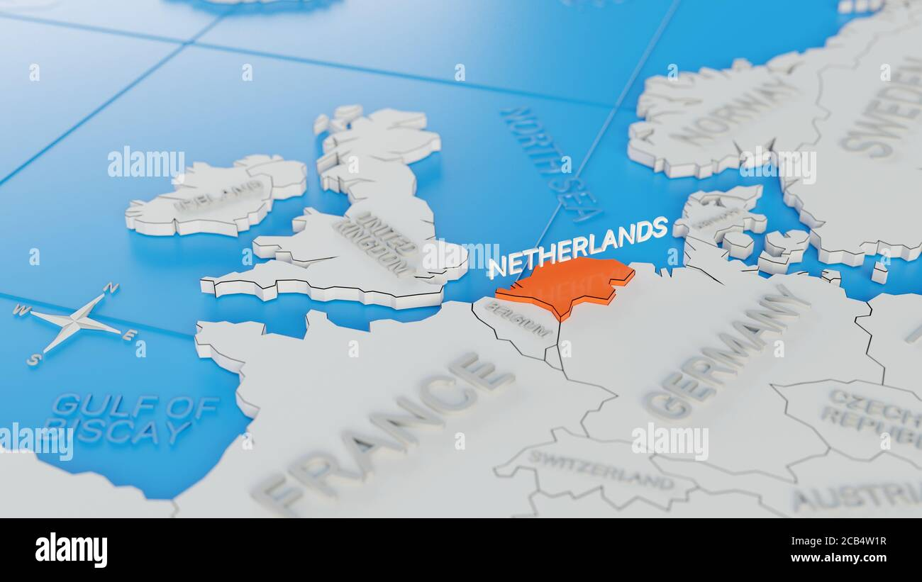 Image of: Netherlands Map Illustration High Resolution Stock Photography And Images Alamy