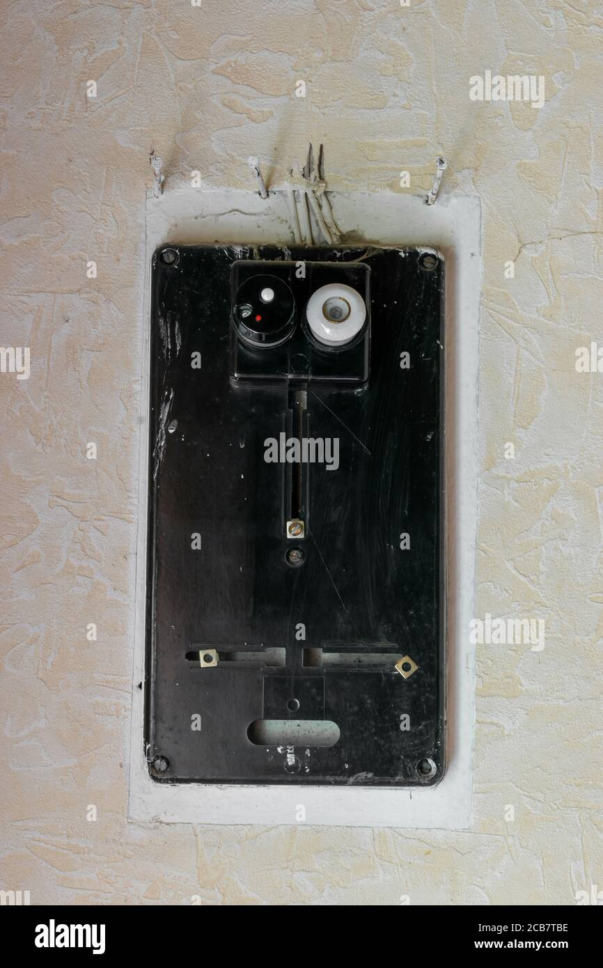 [NRIO_4796]   Electric Fuse Box Vintage High Resolution Stock Photography and Images -  Alamy | Vintage Fuse Box With Side Lever |  | Alamy