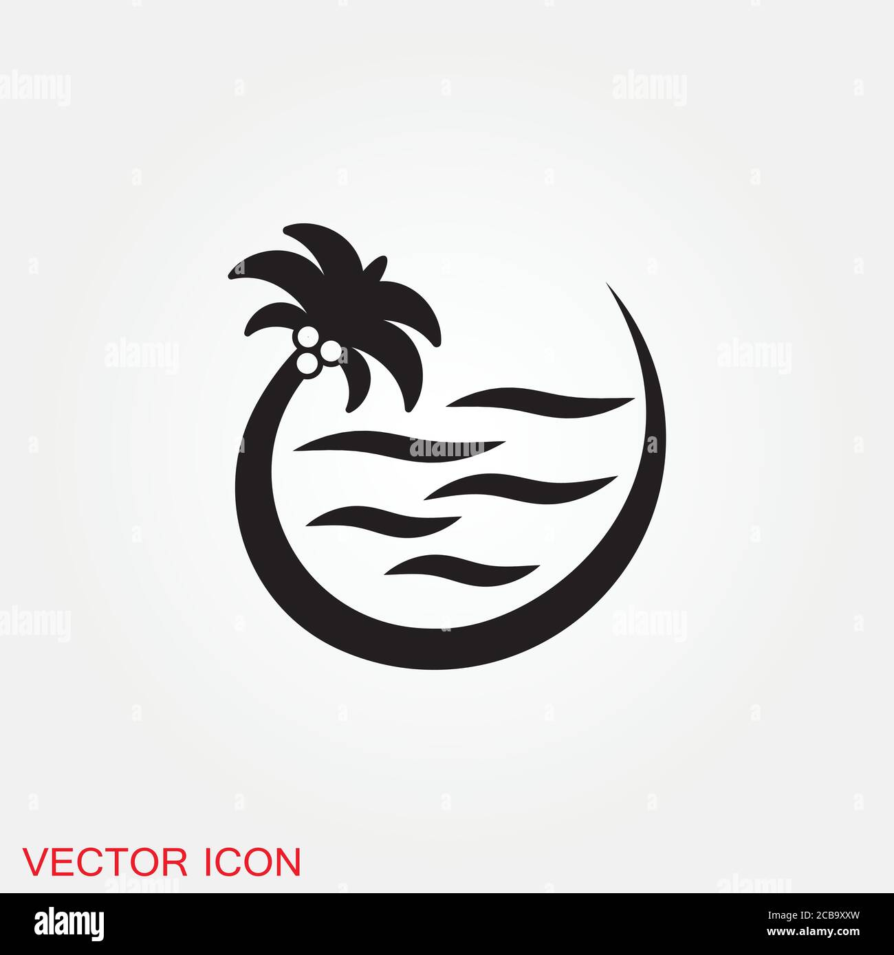 beach icon summer icons with background sign illustration stock vector image art alamy alamy