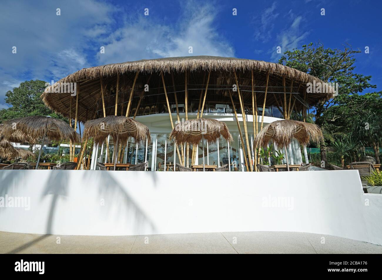 Exterior Architecture And Design Of Tropical Dining Restaurant At Natural Ecology Stylish And Spacious Hotel Villa Thailand Stock Photo Alamy