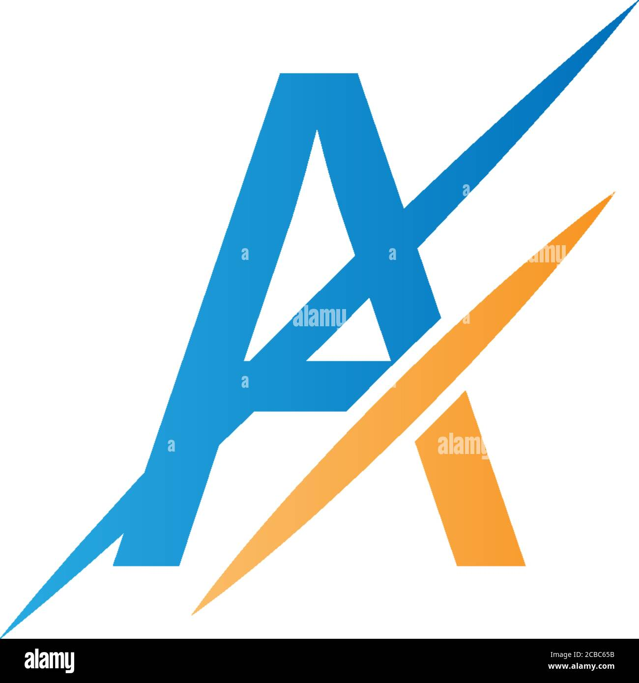 a letter slash logo concept letter a icon slash stock vector image art alamy https www alamy com a letter slash logo concept letter a icon slash image368447223 html