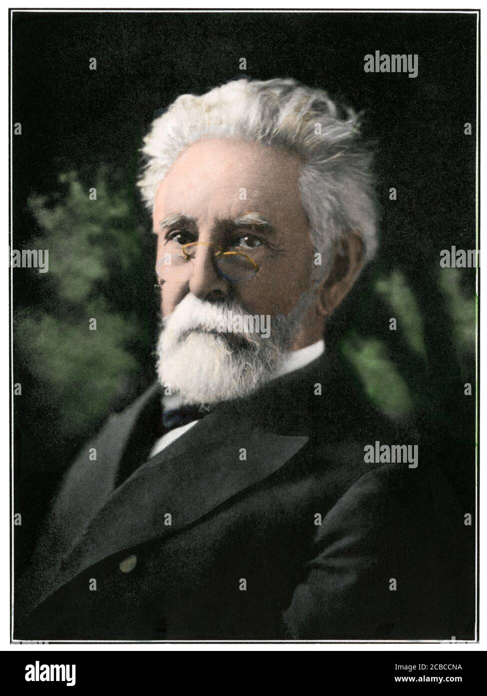 Norman J. Colman, first US Secretary of Agriculture. Hand-colored halftone of a photograph Stock Photo
