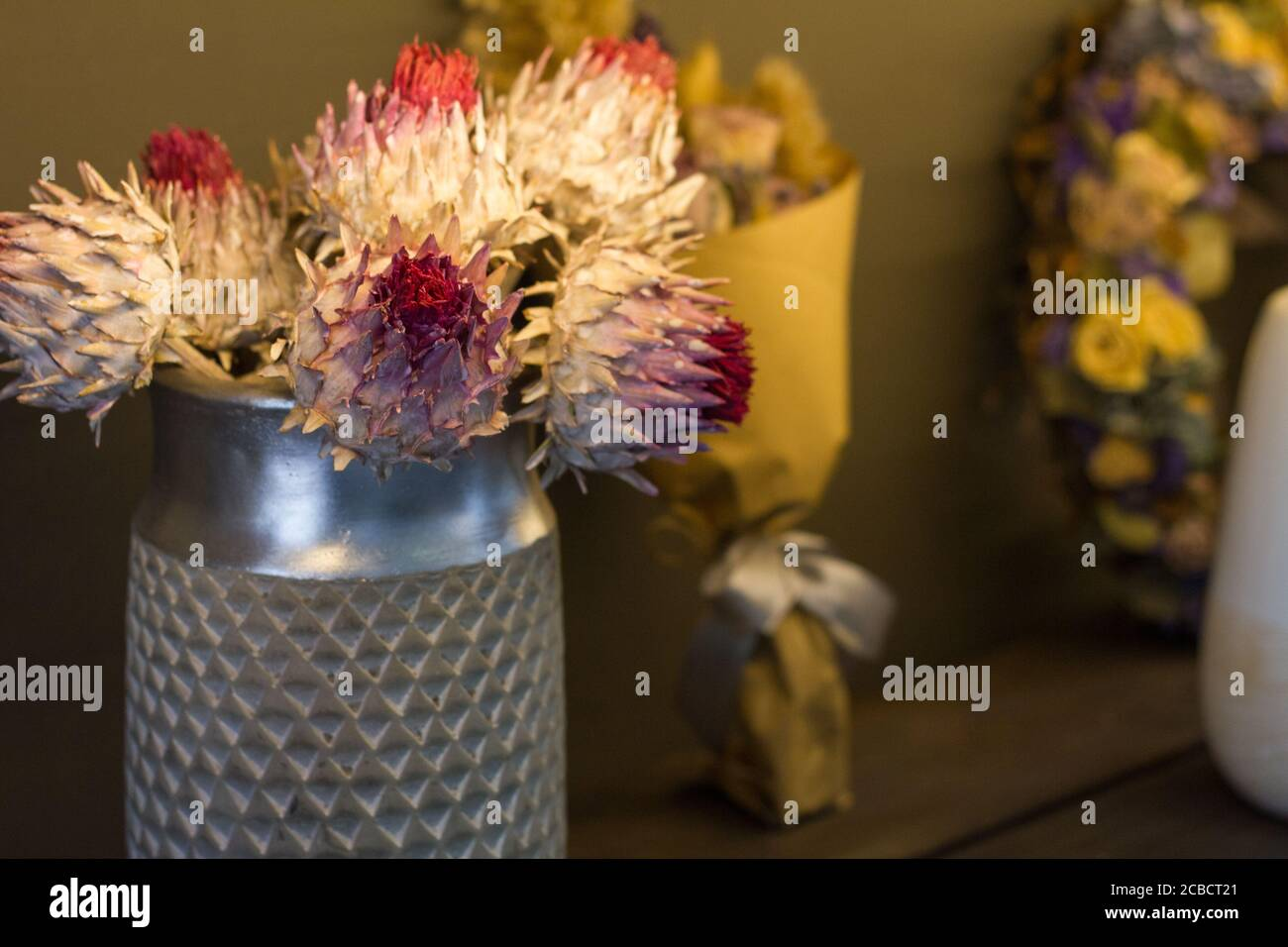 Dried Protea High Resolution Stock Photography And Images Alamy