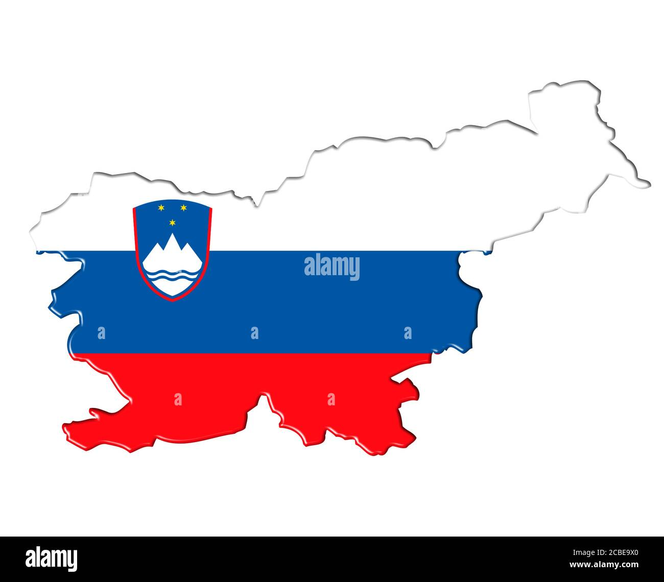 Slovenia Map High Resolution Stock Photography And Images Alamy