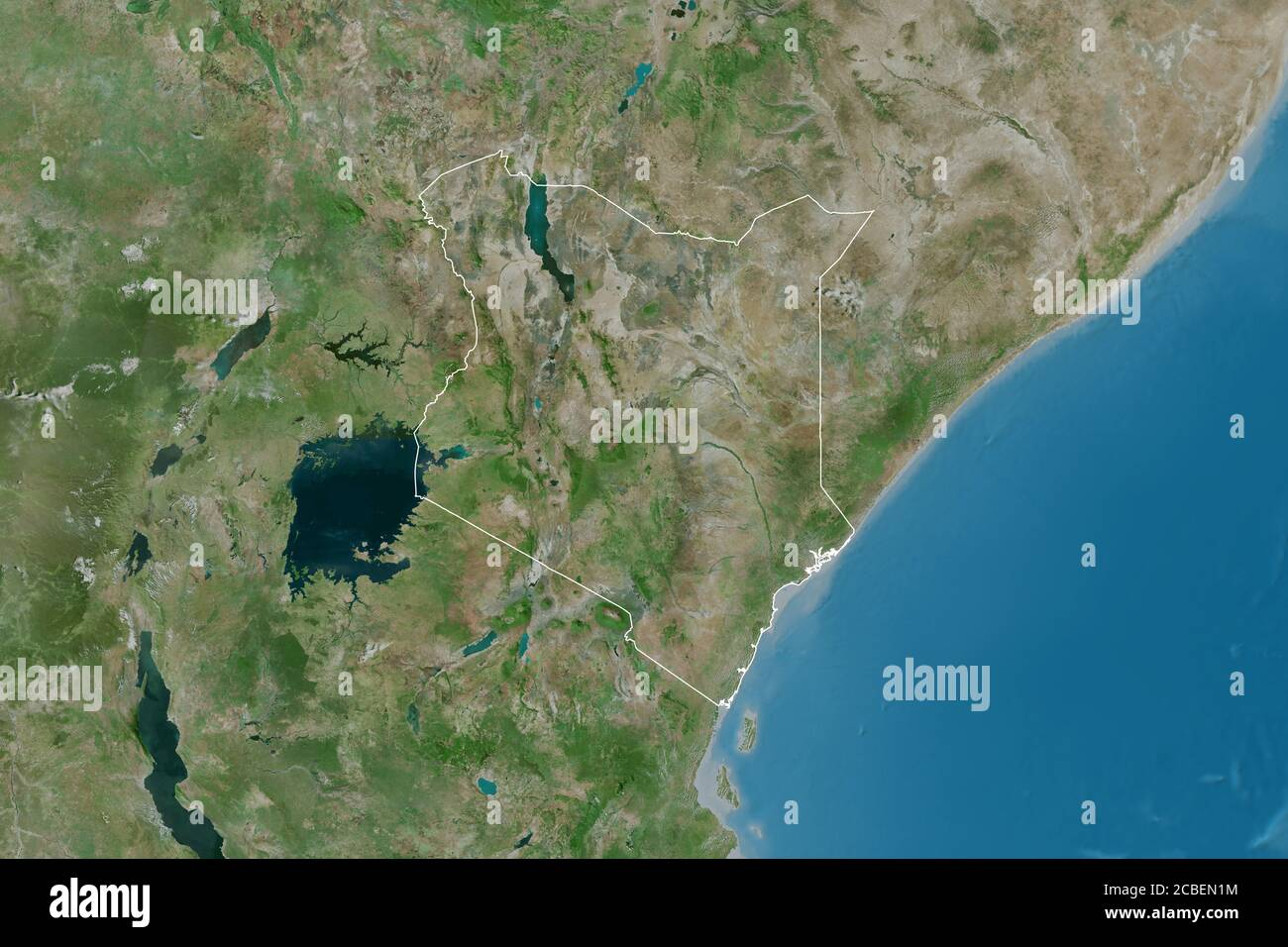 Image of: Map Satellite Geography Kenya High Resolution Stock Photography And Images Alamy